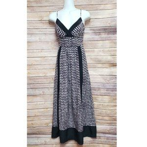 Tracy Reese Silk Purple Print Maxi Dress Size 8